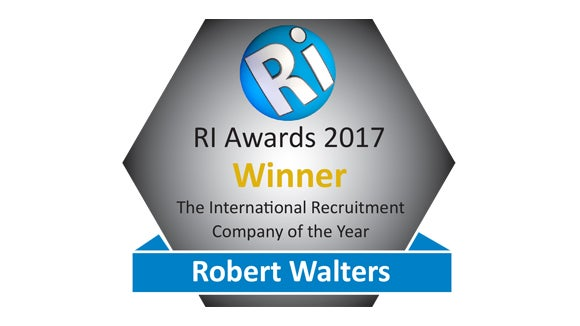 Robert Walters received the award for Best International Recruiter